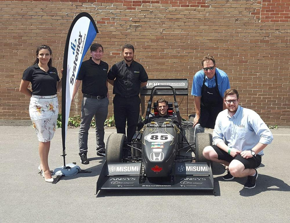 Systemex Industrial Consulting sponsors the Concordia University Formula SAE team